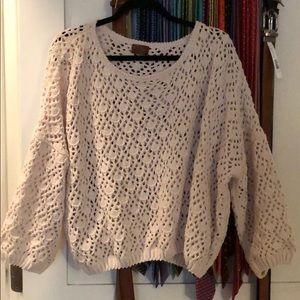 Beautiful crocheted sweater M